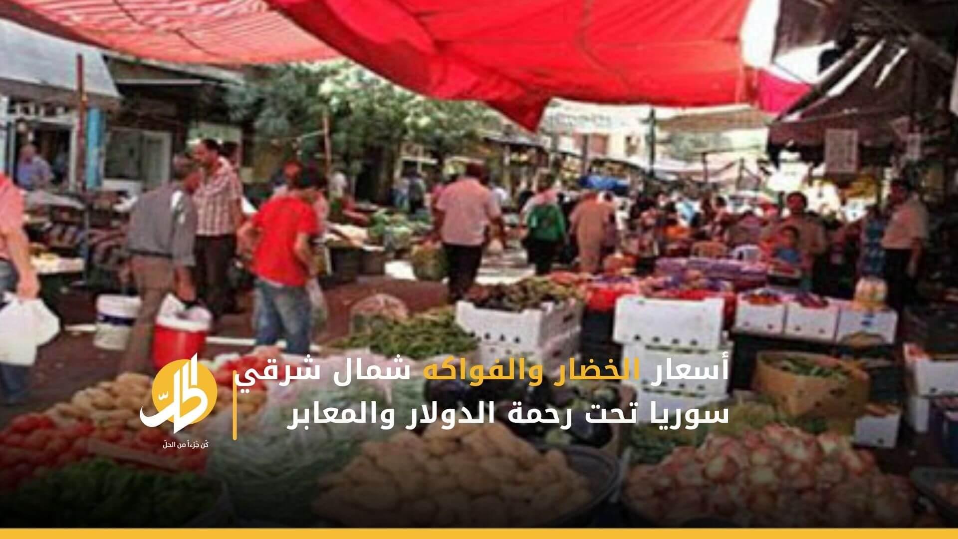 أسعار الخضار والفواكه شمال شرقي سوريا تحت رحمة الدولار والمعابر