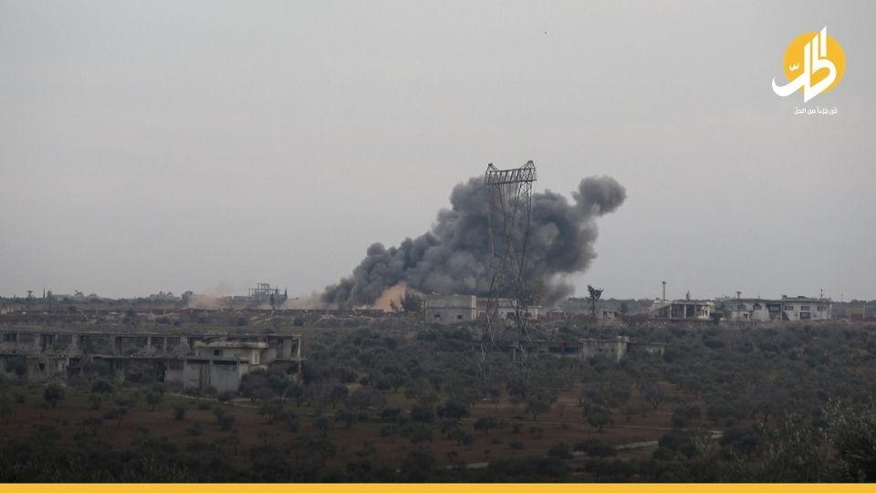 إصابة ثلاثة مدنيين بقصفٍ روسي جنوبي إدلب