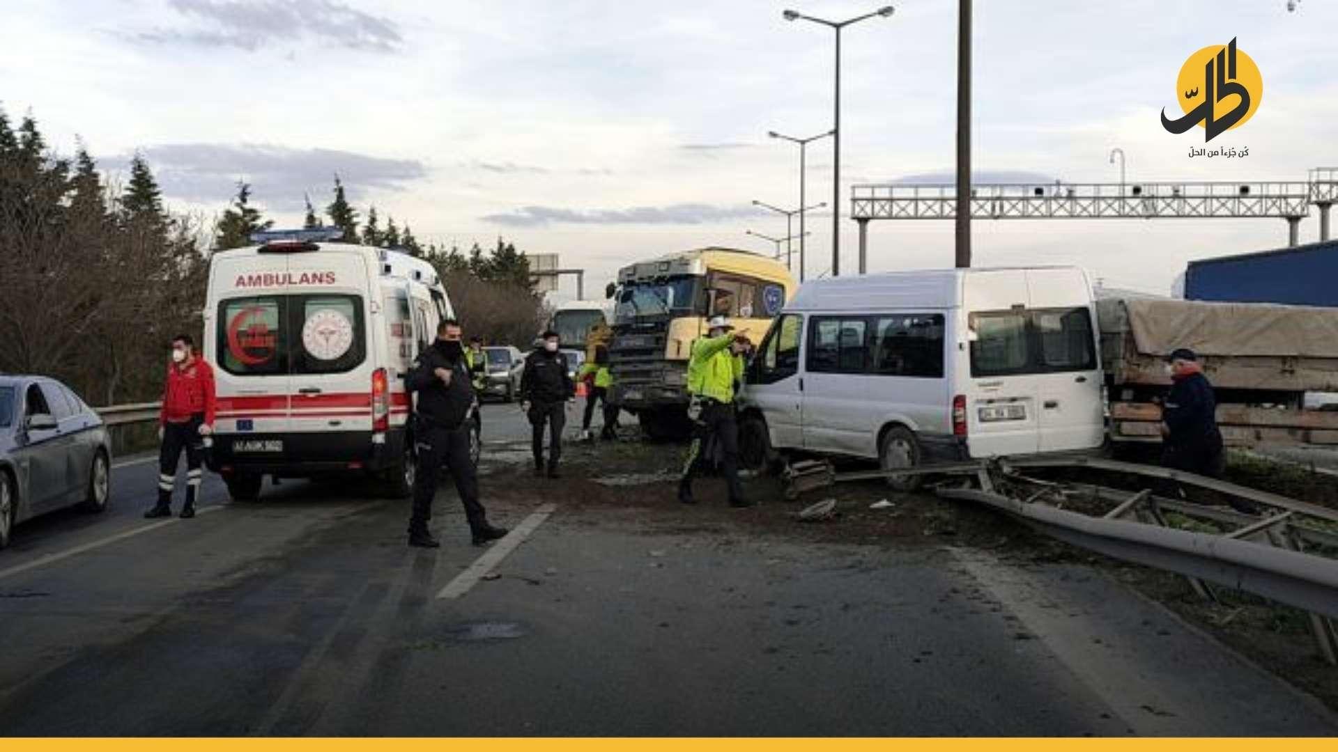 نتيجة الاستهتار بسلامتهم .. العمالة السورية ضحية لحوادث سير متكررة في تركيا