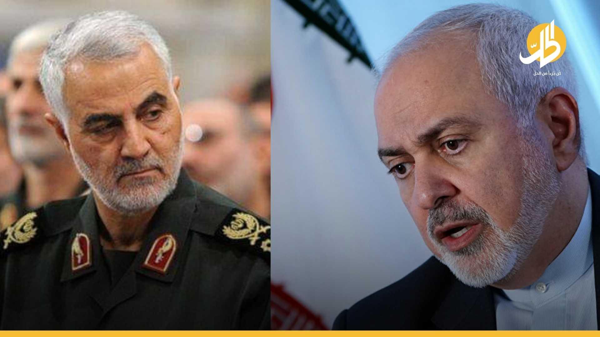 """اختراق أم طفح الكيل.. """"ظريف"""" يكشف صراعات السلطة في إيران وسيطرة """"سليماني"""""""