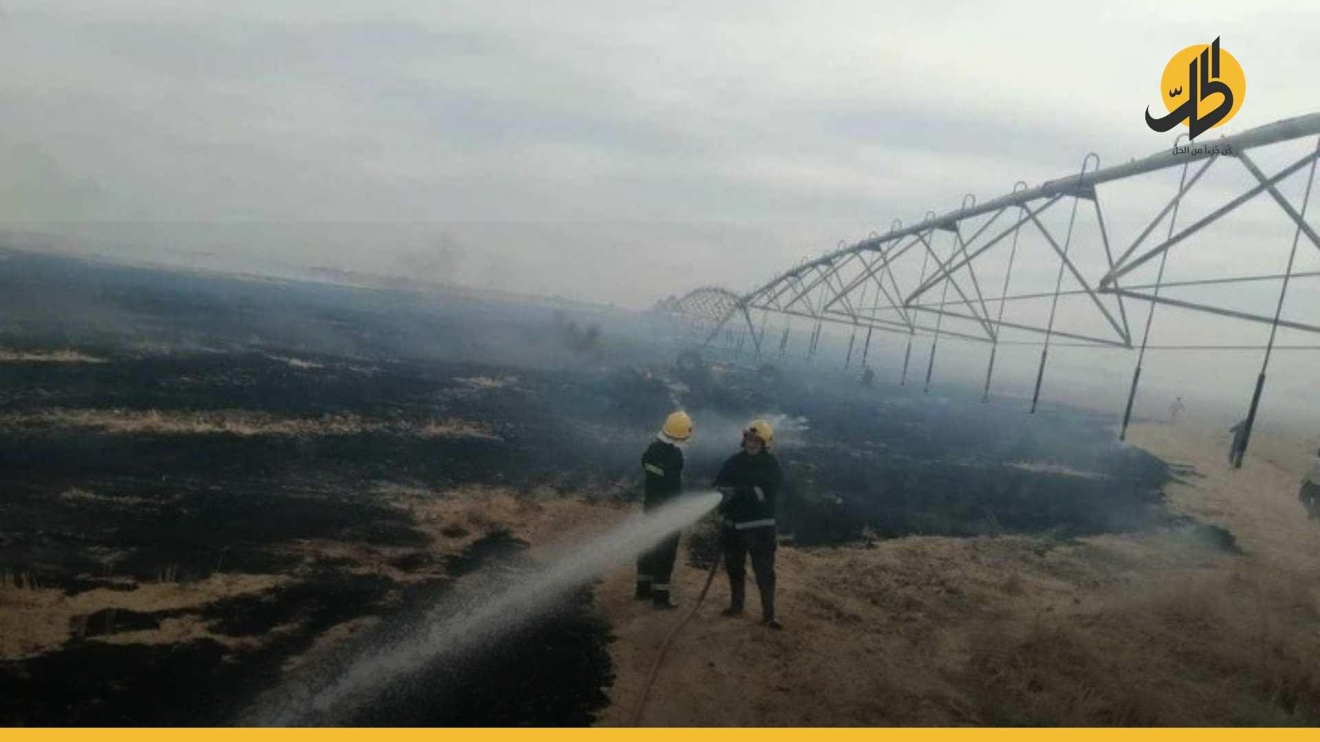 العراق: الكشف عن عدد الحرائق بالحقول الزراعية وأسبابها
