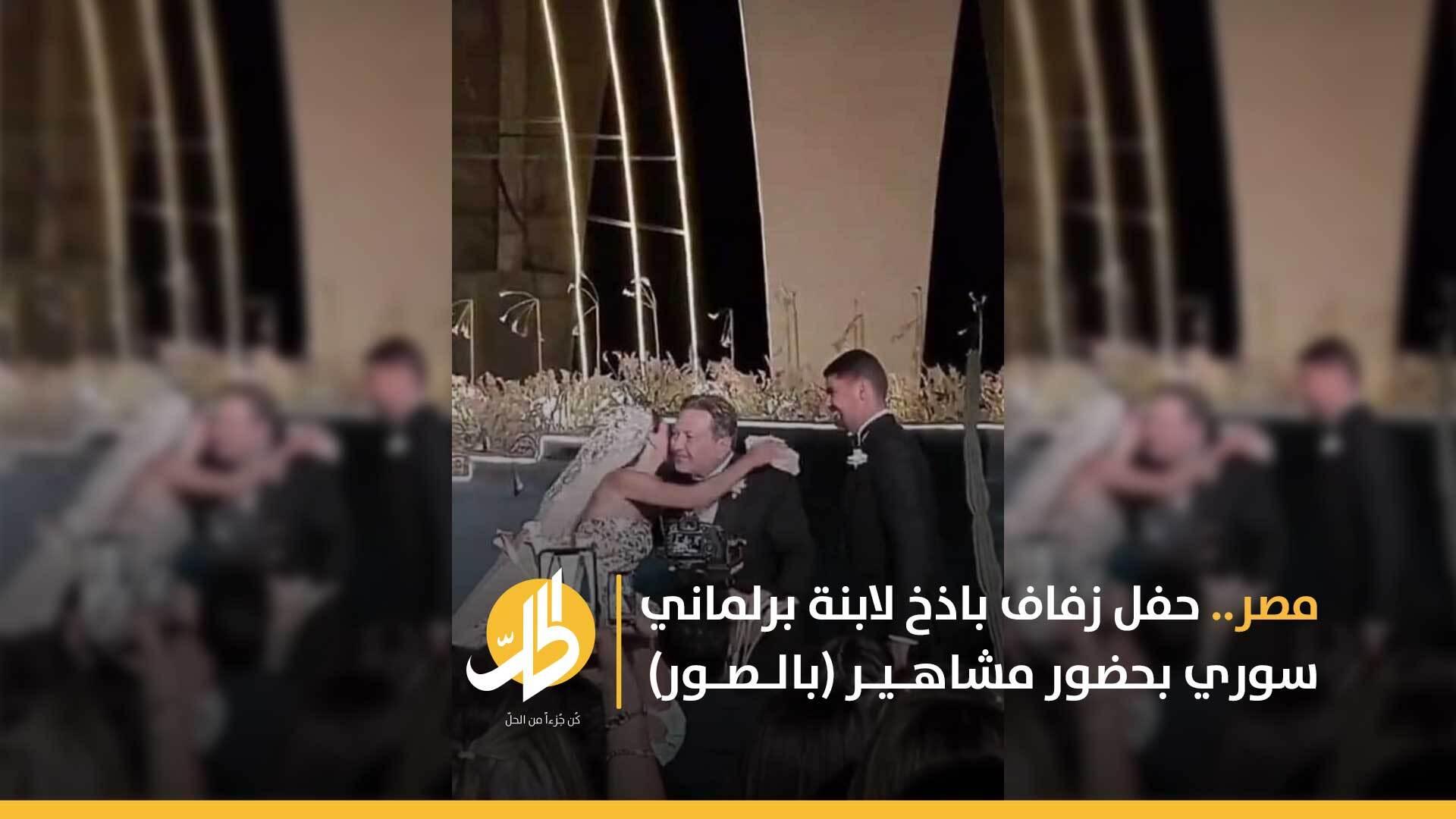 مصر.. حفل زفاف باذخ لابنة برلماني سوري بحضور مشاهير (بالصور)