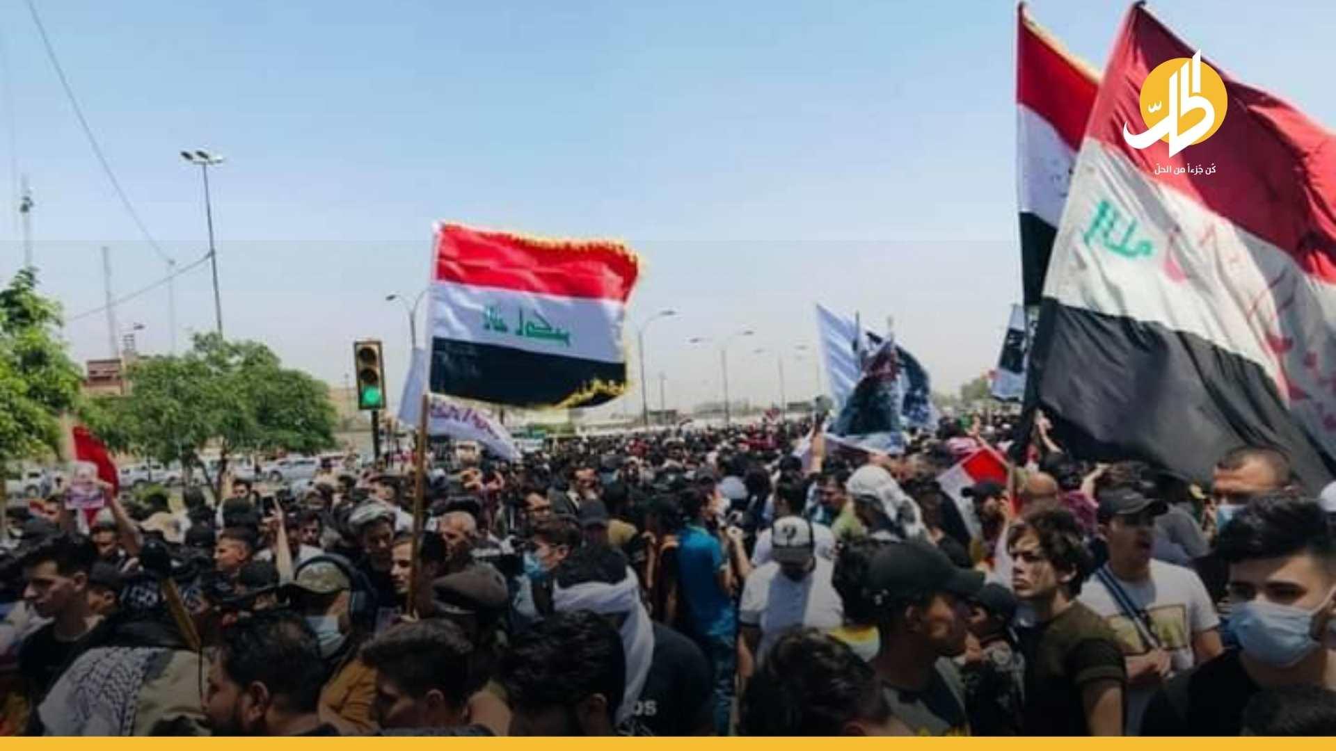 مقتل متظاهر وإصابة عشرات المحتجّين بساحة التحرير في بغداد