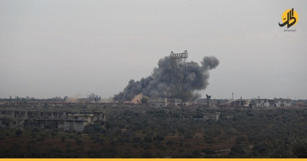 القوات السورية والروسية تستأنف قصفها على قرى ومدن بريف إدلب