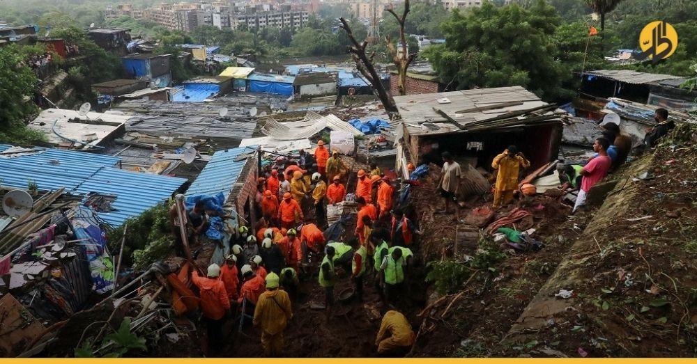 الهند: ارتفاع حصيلة ضحايا الفيضانات والأمطار إلى أكثر من 70 قتيلاً