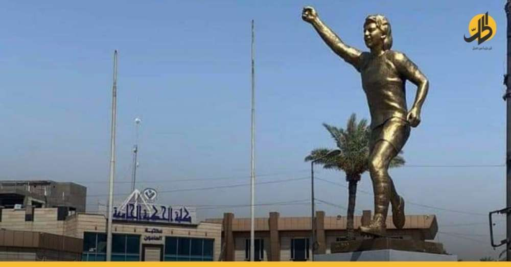 """تمثال """"أحمد راضي"""" يثير غضب العراقيين وأمانة بغداد تزيله سريعاً – (صُوَر)"""