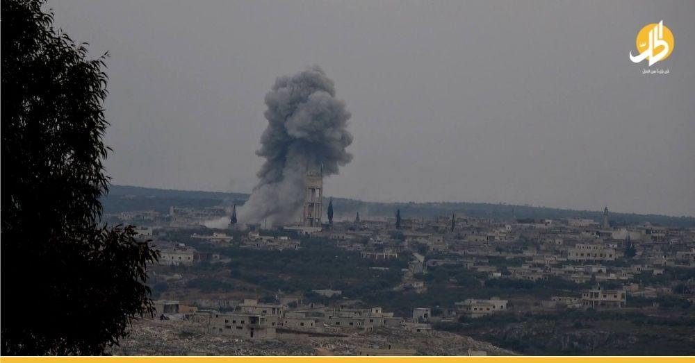 إصابة مدنييَّن اثنين بقصفٍ للقوات الحكوميّة على مدينة أريحا جنوبي إدلب