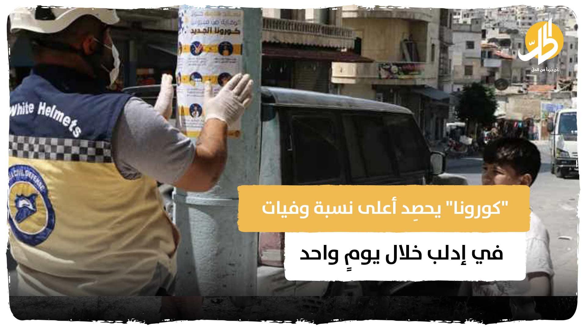 """""""كورونا"""" يحصِد أعلى نسبة وفيات في إدلب خلال يومٍ واحد"""