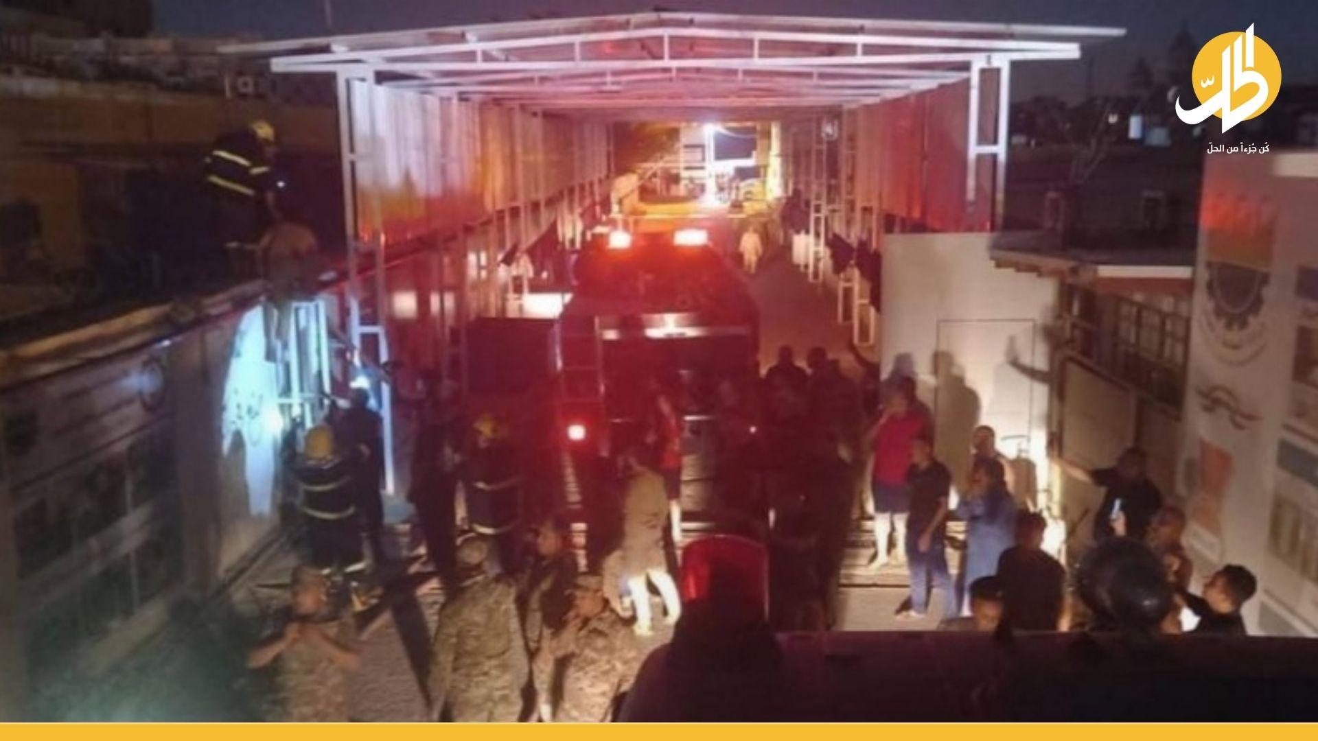قرب القصر الأبيض.. القصة الكاملة لحريق وزارة التربية في بغداد