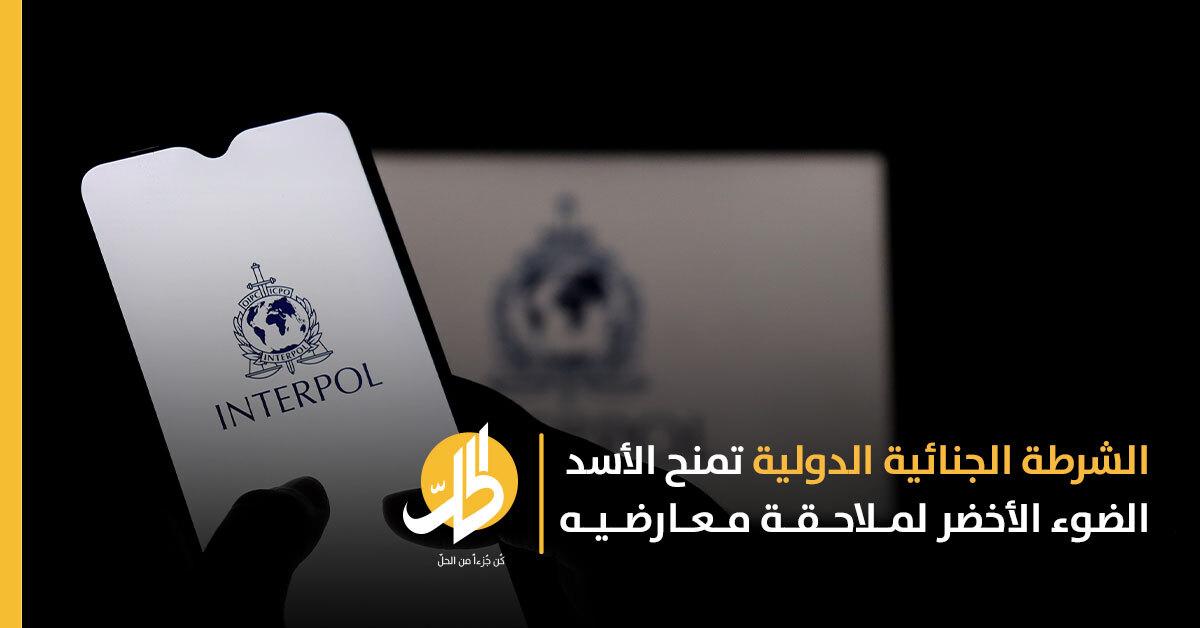 الإنتربول تواجه انتقادات بسبب تعاونها مع دمشق