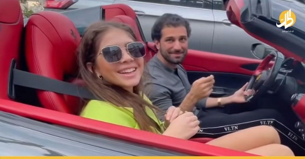 """(فيديو) – برفقة فتاة إسرائيلية.. نجل """"رامي مخلوف"""" يقود """"فيراري"""" بقيمة 300 ألف دولار"""