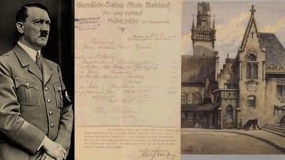 """أحد أثرياء الشرق الأوسط يشتري لوحة لهتلر ب """"103"""" ألف يورو"""