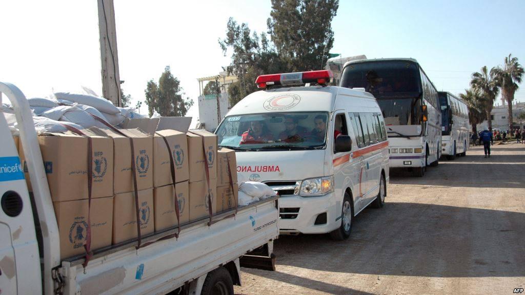 45 ألف قافلة مساعدات دخلت سوريا حتى منتصف الشهر الحالي