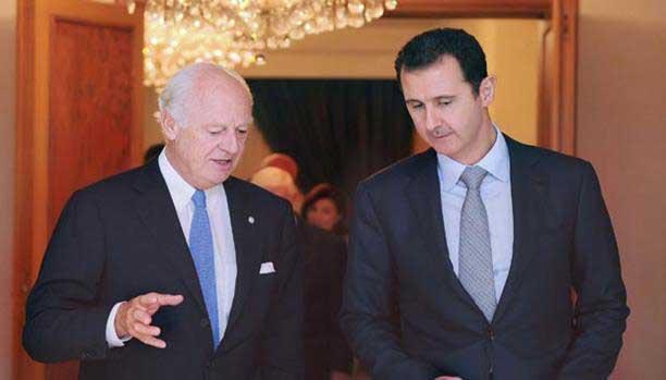 بعد قبول النظام بوقف القصف على حلب: دي مستورا في دمشق غداً