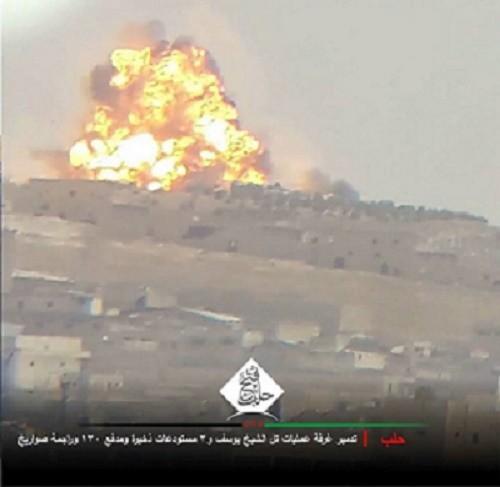 قنابل عنقودية على حلب وريفها.. والمعارضة تدمر غرفة عمليات للنظام وتقتل عشرات العناصر
