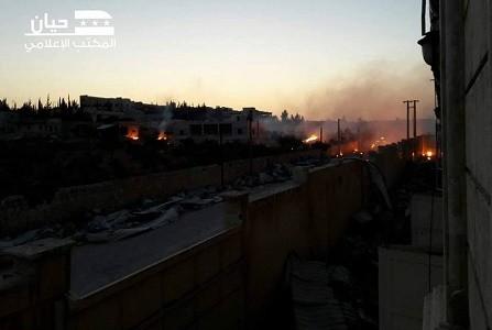 ضحايا بقنابل فسفورية محرمة دولياً على ريف حلب.. والدفاع المدني يدعو لأخذ الحذر