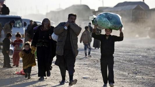 عشرة ملايين نازح في سوريا والعراق