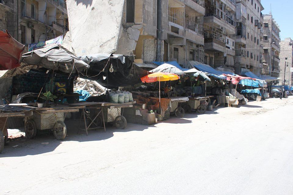 أسعار المواد الغذائية لازالت مرتفعة في حلب المدينة رغم كسر الحصار