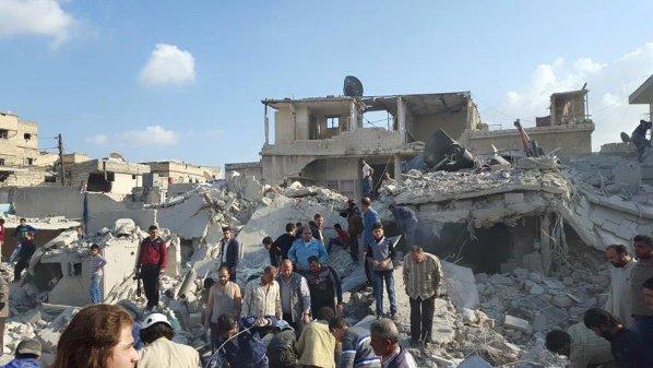 22 قتيلاً وعدد من الجرحى بقصف جوي على ديرالزور