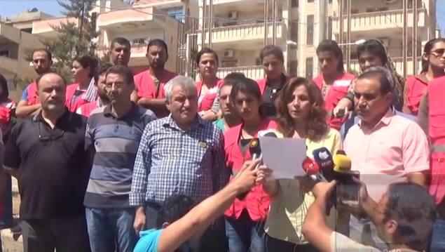 القامشلي: اعتصام أمام اليونسيف للمطالبة بإدخال الأدوية إلى مناطق الإدارة الذاتية