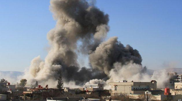 النظام يقصف قرى جبل الشيخ بالبراميل بعد وضع المعارضة شروطاً للتفاوض