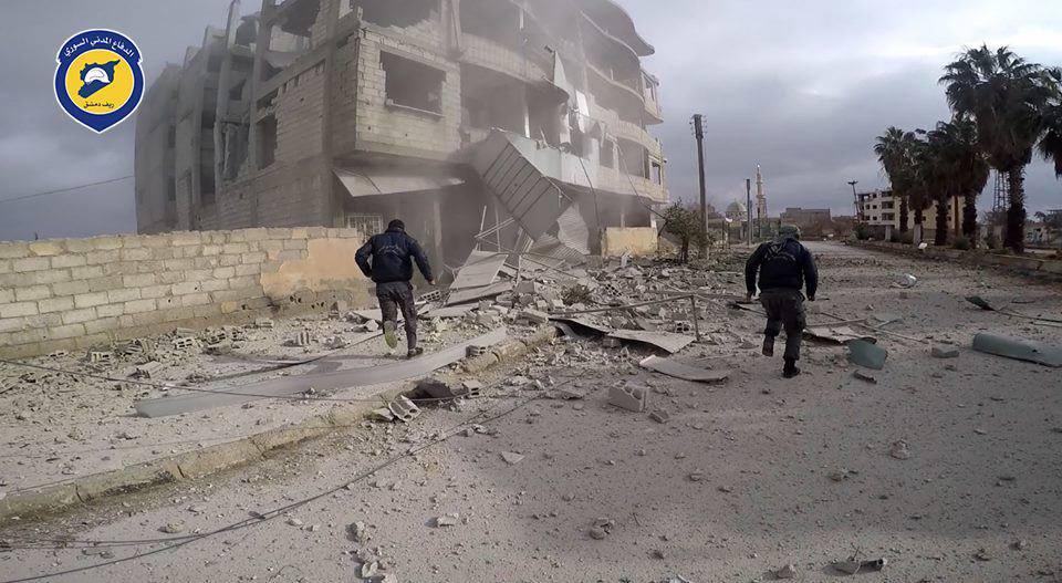 النظام يقصف الغوطة بعشرات الصواريخ والغارات.. ومقتل 16 مدنياً