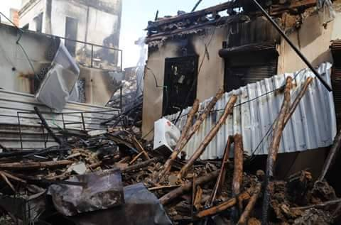 دمشق: أمطار غزيرة تقطع طرقات العاصمة.. وحرائق في السوق القديم