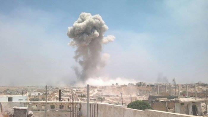 حماة: ضحايا بقصف على مناطق عدة.. وموجة نزوح باتجاه الريف الشمالي وإدلب