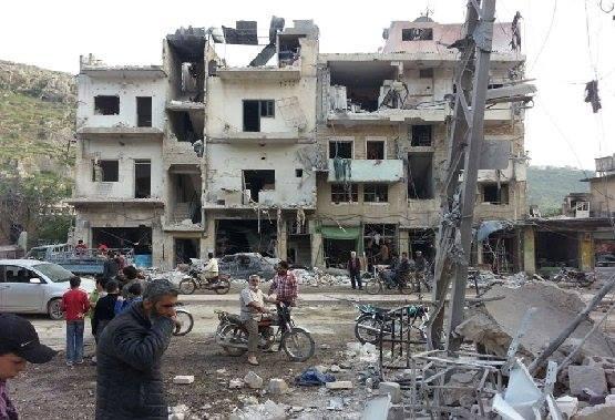 ستة قتلى بقصف جوي وصاروخي على مدينة إدلب.. وانهيار ثلاثة مباني