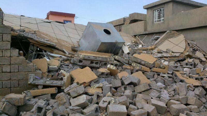 براميل على قرى جبل الشيخ.. وميلشيات النظام تفجر منازل مقاتلي المعارضة في الديرخبية