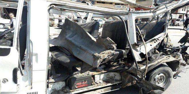 قتلى وجرحى بانفجار عبوة ناسفة بحافلة ركاب في حي الزهراء بحمص