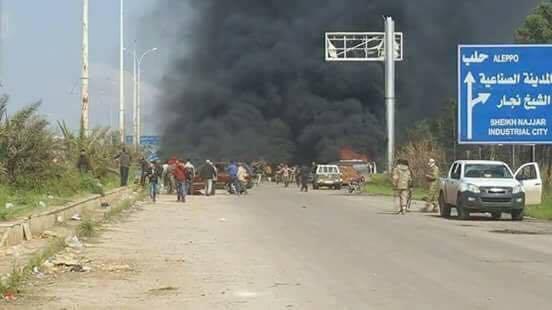 100 قتيل وعشرات الجرحى بتفجير قرب تجمع للخارجين من كفريا والفوعة