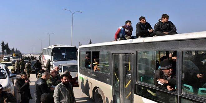 خروج 2000 مدني و700 عنصر للنظام من كفريا والفوعة ضمن اتفاق المدن الأربع