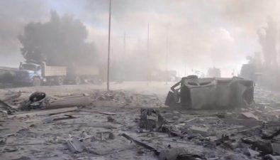 في الأحياء المتبقية بيد داعش في الرقة..المدنيون دروع التنظيم ومنازلهم أفخاخه