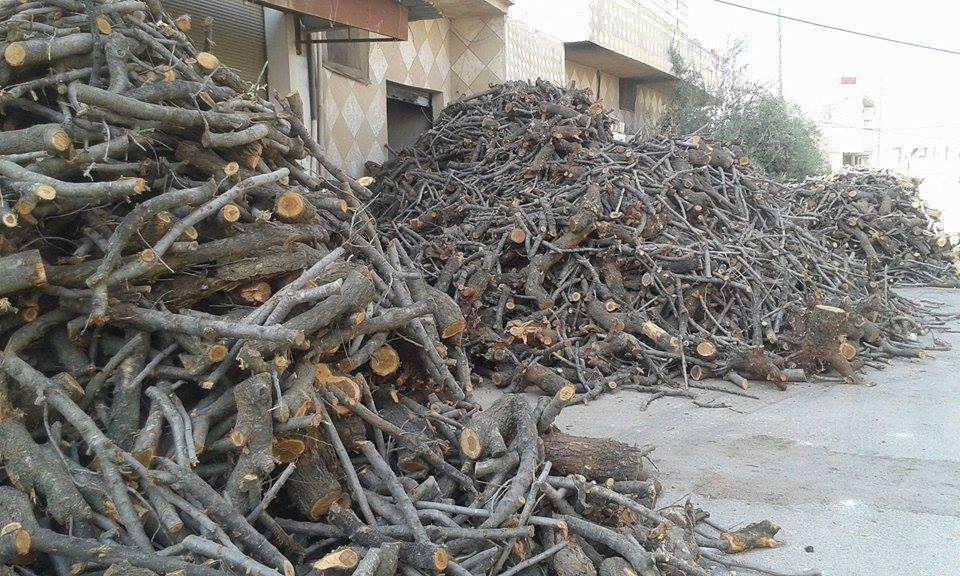 حمص: توزيع 69 طن حطب و500 حصة لباس على عوائل الأيتام في الرستن وريفها
