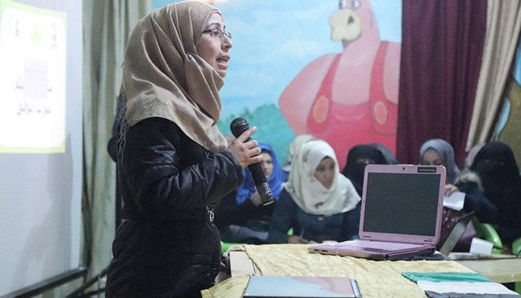تجمع نساء حمص يبدأ دوراته في مجالي التمريض والتجميل بالريف الشمالي