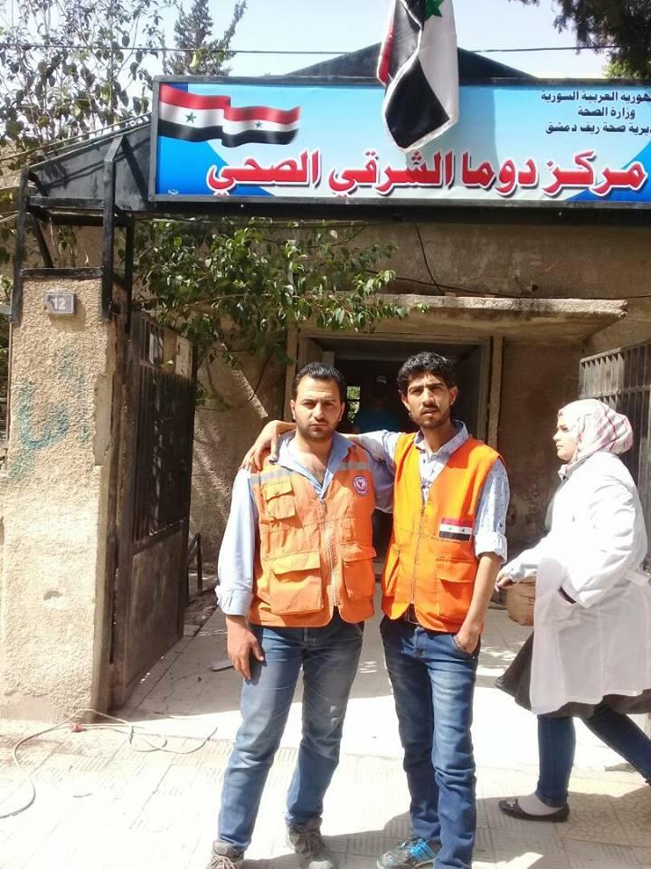 حكومة النظام تفتتح مركزاً طبياً في دوما.. وزيارة مسؤولين بريطانيين لمراكز الإيواء بريف دمشق