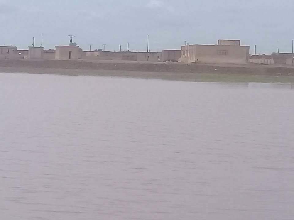 السيول تتلف المحاصيل الزراعية بريف الرقة الغربي