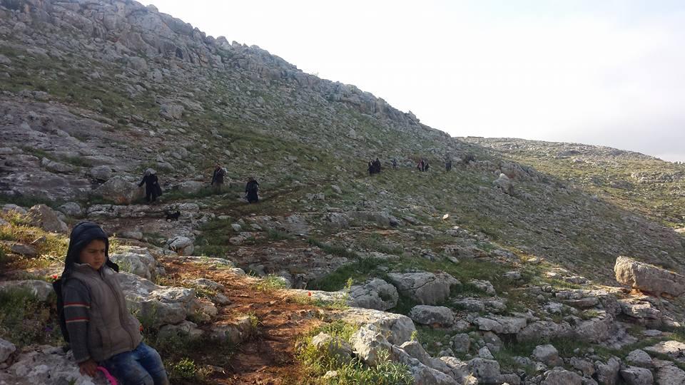 """مئات النازحين من عفرين يعودون إليها """"سيراً على الأقدام"""".. والجيش التركي يأخذ بصماتهم لإعطائهم """"بطاقة إقامة"""""""