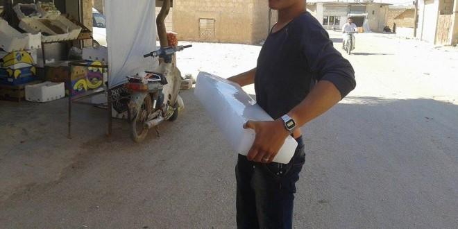 ارتفاع أسعار قوالب الثلج في مدينة دير الزور مع حلول شهر رمضان