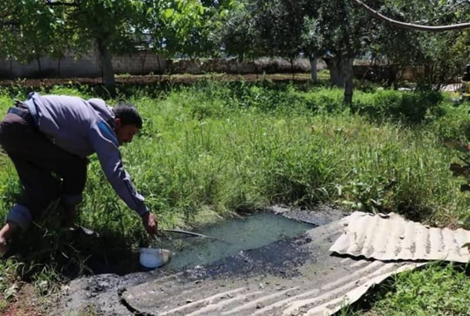 حماة: تخوّف من كارثة صحية بعد انسداد المجاري في قرية الحويجة