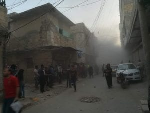 ضحايا مدنيّون بقصف على منطقة خاضعة لسيطرة النظام شمال حلب