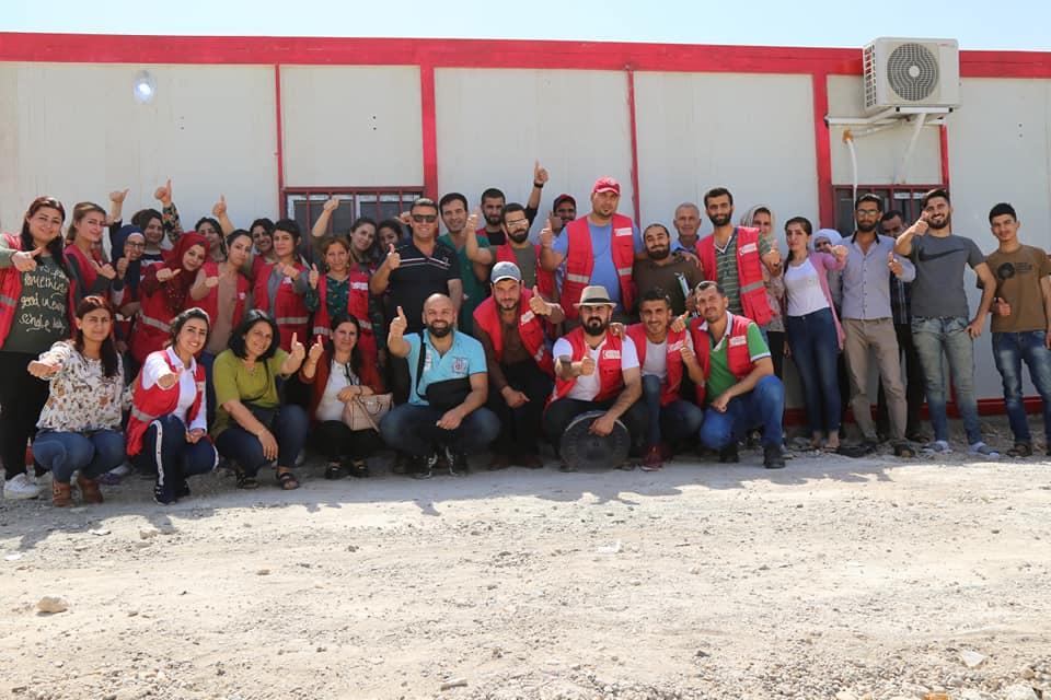 افتتاح مشفى الهلال الأحمر الكردي في مخيم الهول