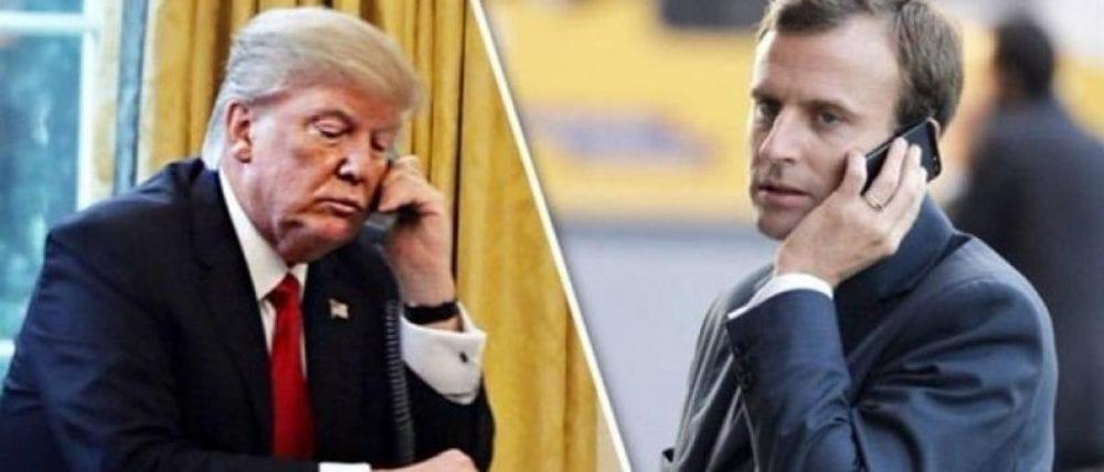 التهديدات الإيرانية بمضيق هرمز في حديث بين ترامب وجونسون وماكرون