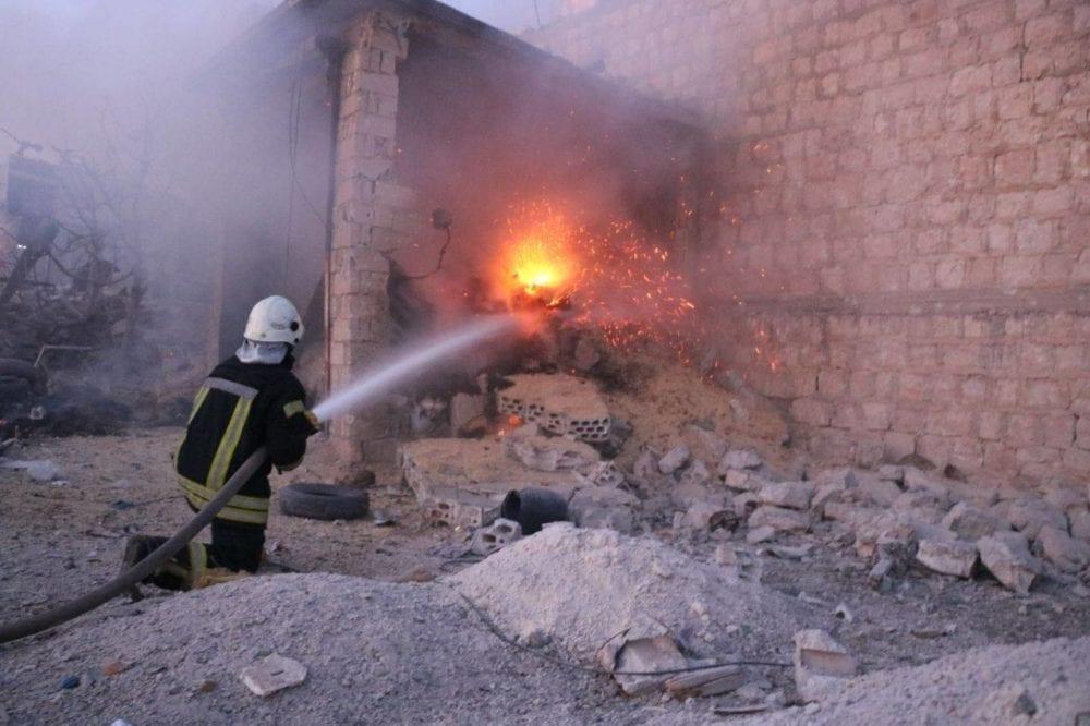 القصف الروسي يدمّر مخبزاً  كان يطعم ٤٠ ألف مدنيّ جنوب إدلب