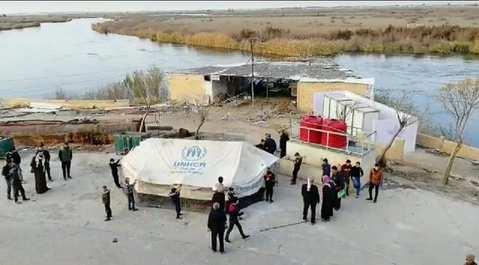 وصول أولى العائلات النازحة من إدلب إلى مناطق سيطرة الإدارة الذاتية