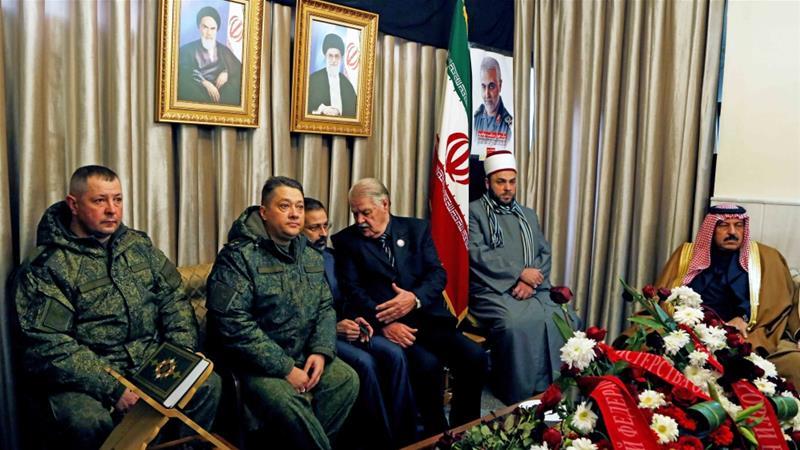 مجلس عزاء لقاسم سليماني في السفارة الإيرانية بدمشق بتاريخ 5 كانون الثاني/يناير 2020 - رويترز
