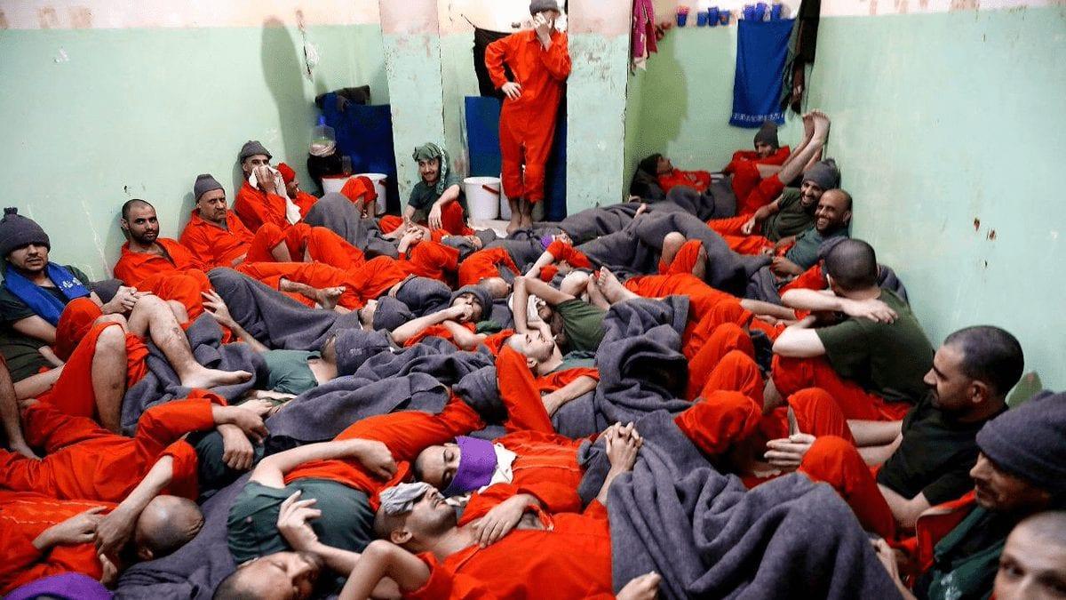 سجناء داعش لدى قوات سوريا الديمقراطية - سجن الحسكة