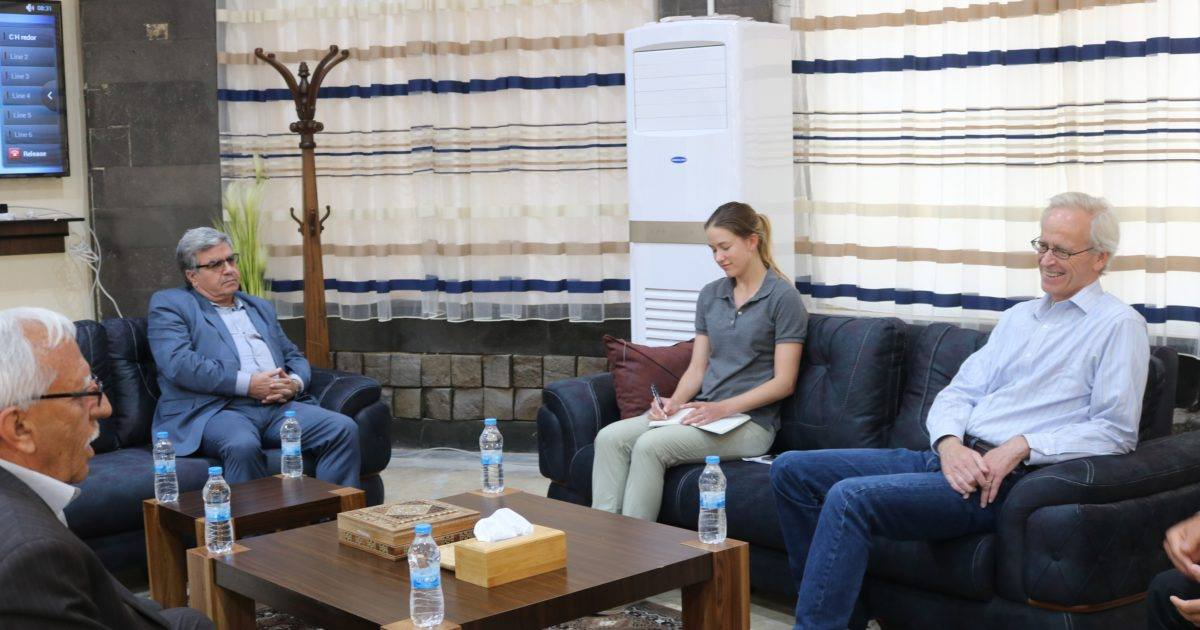 """المستشار الأمريكي """"وليام روباك"""" يجتمع مجدداً بقيادات ثمانية أحزاب كردية"""
