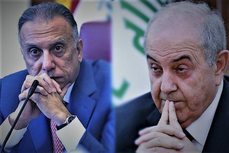 """""""الكاظمي"""" و""""علاوي"""".. هل بدأت صراعات الحكومة العراقية مع الساسَة مُبكّراً؟"""